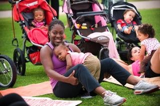 Moms in park